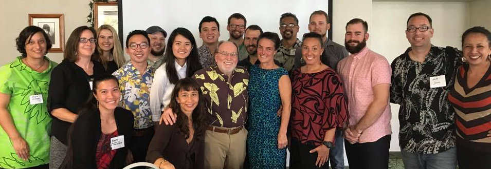 Spring 2017 Kuleana Academy participants with former Governor, Neil Abercrombie (center).