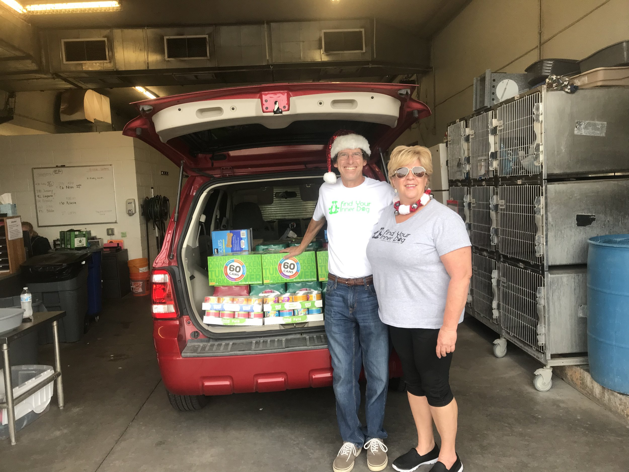 #operationpetunia for 2018 has been a huge success! Thanks to our community pulling together, we donated over 700 cans and 30 pounds of dog biscuits to Maricopa County Animal Care and Control – East shelter.