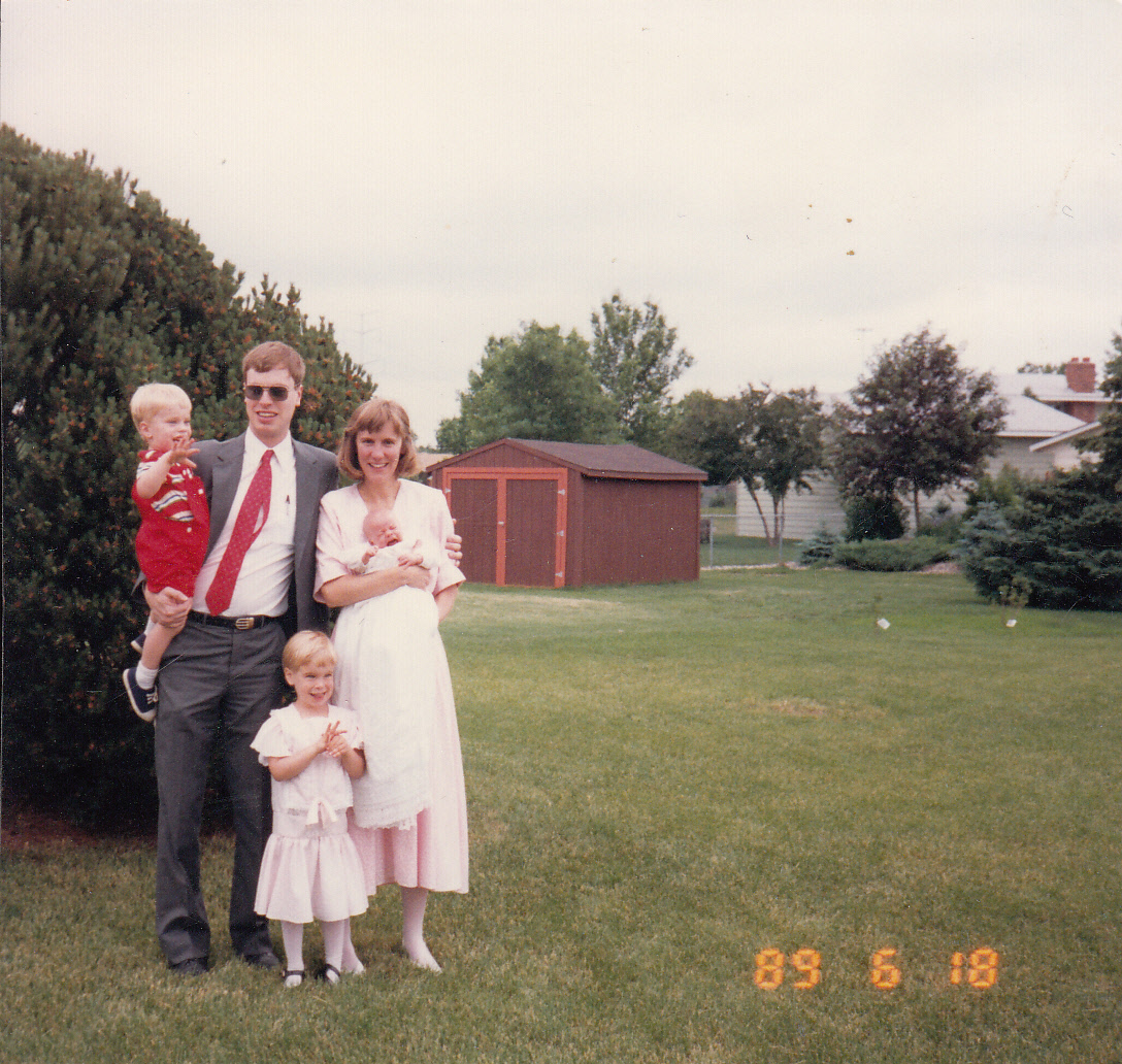 This is the original Beautiful Place. Here we have our mom and dad, Anna, our brother Jake, and little baby Mary.
