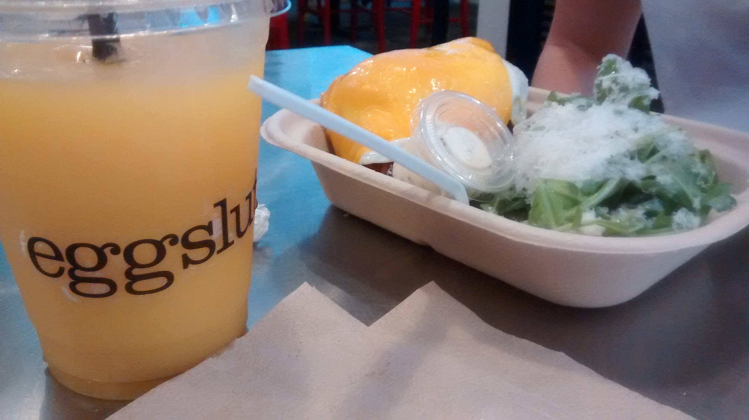 On Saturday morning we got delightful breakfast sandwiches at a fine and full-of-propriety establishment called Eggslut.