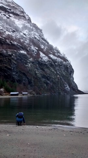 The fjord.