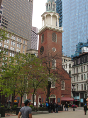 Ye Olde Meeting House where the decision to enact the Boston Tea Party was made.