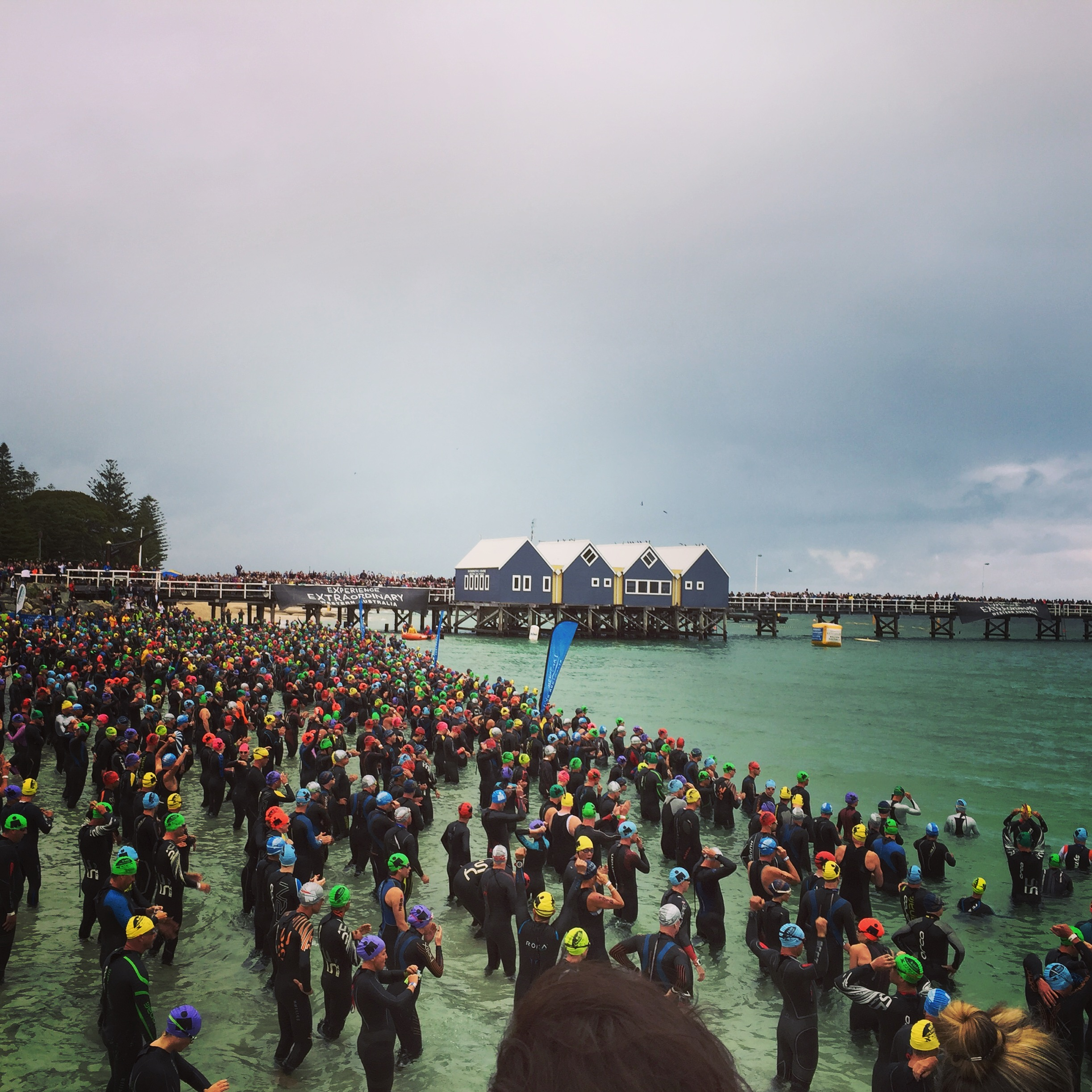 5:50am starting line at Busselton Pier