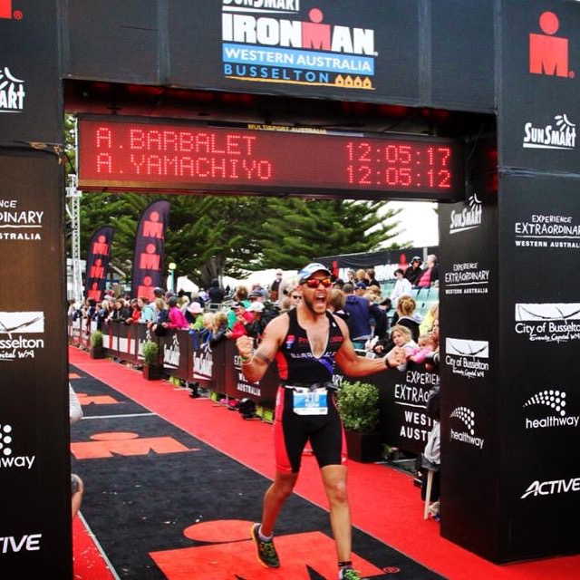 Adam completed the Ironman in 12 hours and 5 minutes!