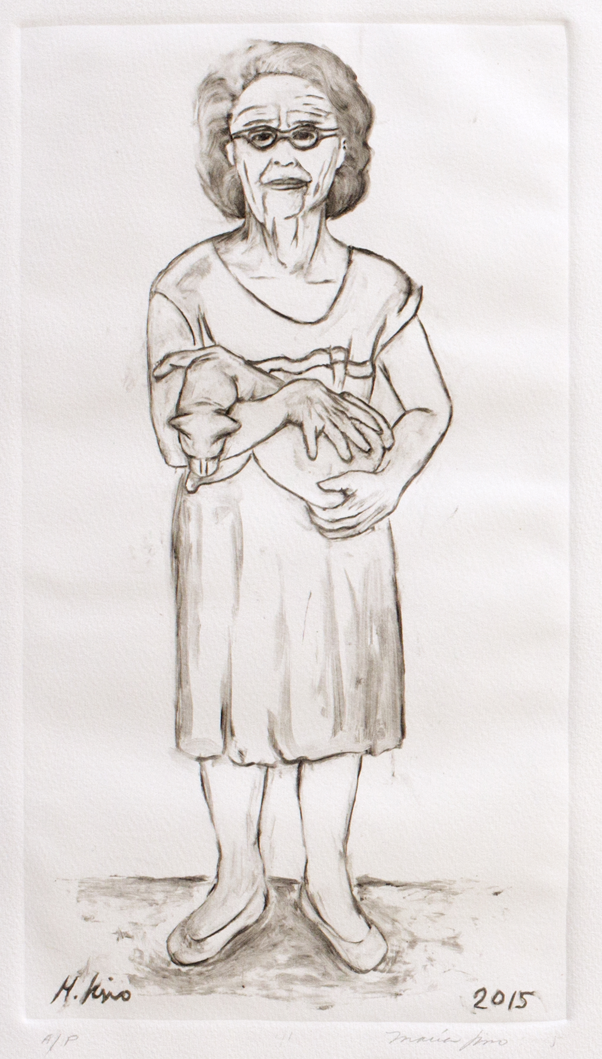 Abuela With Cat