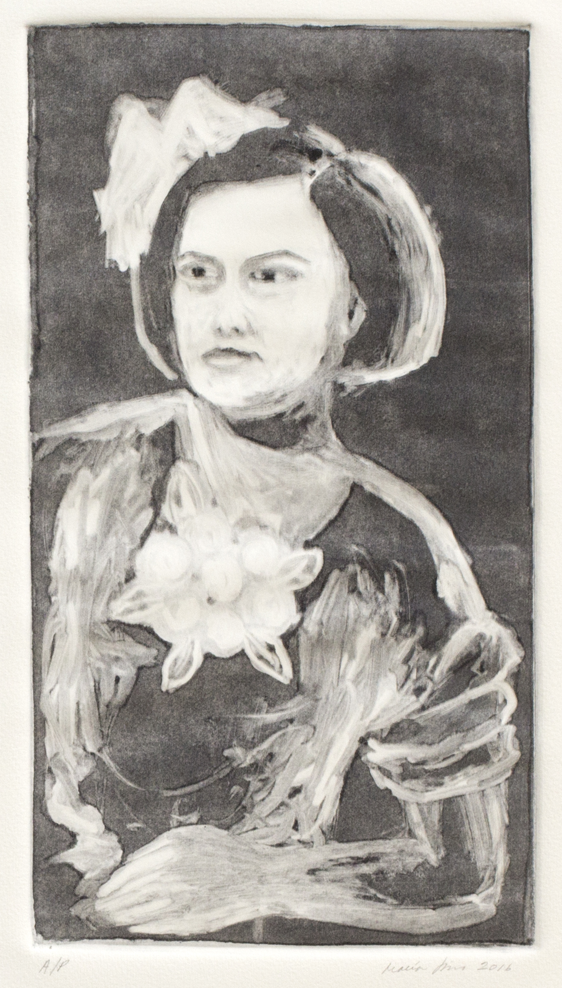 My Mother as a Child (Ghost Print), 2016