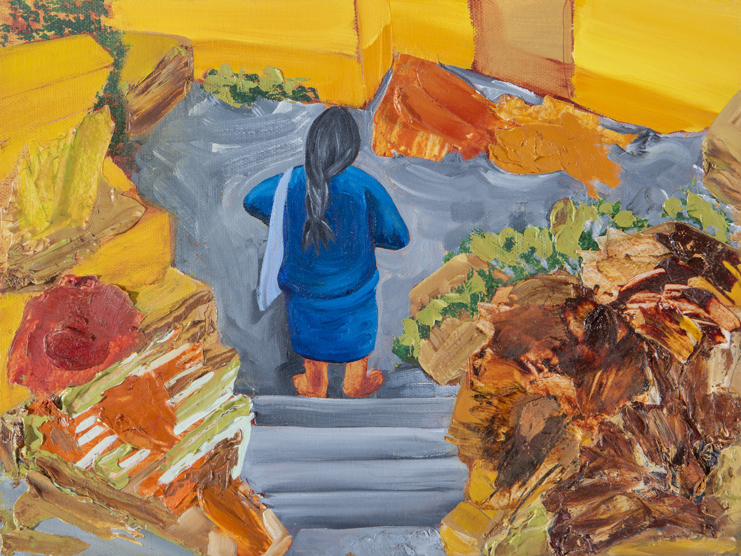 Las escaleras / The Stairs (right panel)