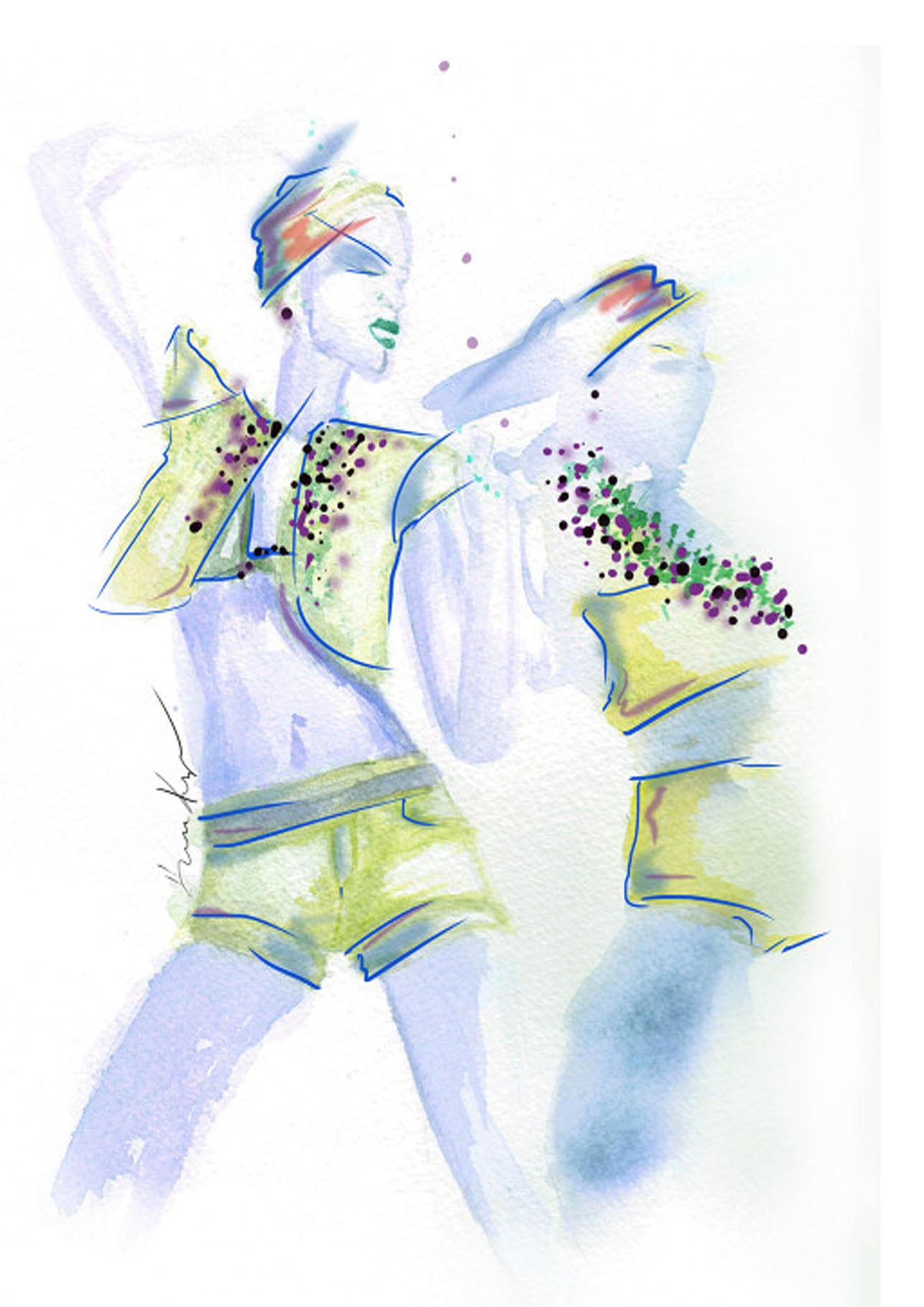 Kris Keys Card 16 2 girl Vogue Dance.jpg