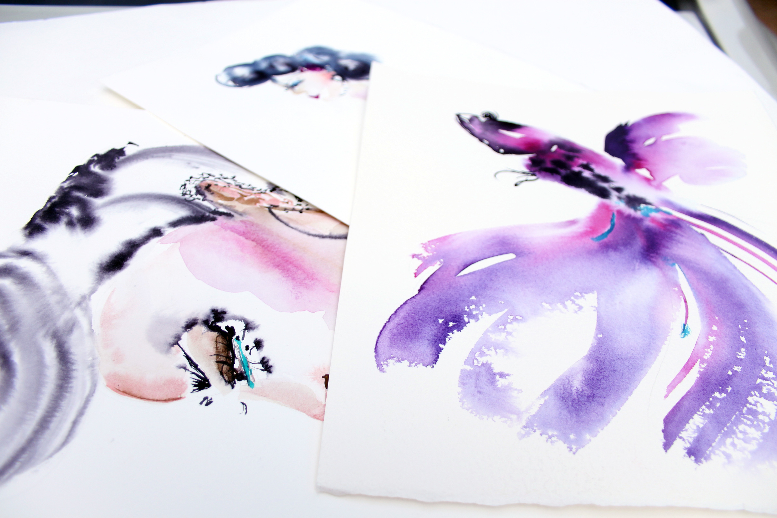 Watercolor Shoe Fashion Illustration Techniques