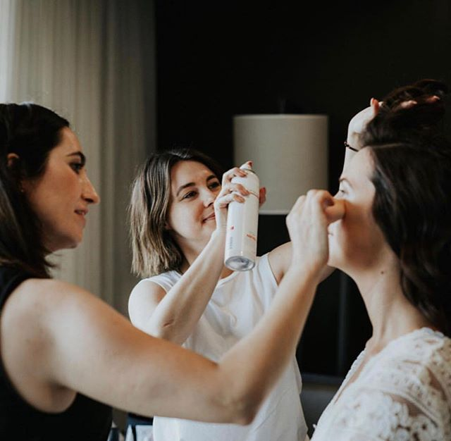 Teamwork makes the dream work!! My gal pal @amycapedamakeup and I making sure our bride @loummaher looked and felt like the most beautiful version of herself on her special day 👰 . Thank you for entrusting us with this job Louise. We hope your wedding day was everything you wished for and more ❤️ | 📸 by @jennywuphotography @jenny_wu_weddings