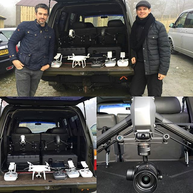 Droning for the last few days but it's too foggy today so we're grounded. Got our new DJI Inspire 2 which is awesome. #drone #inspire2