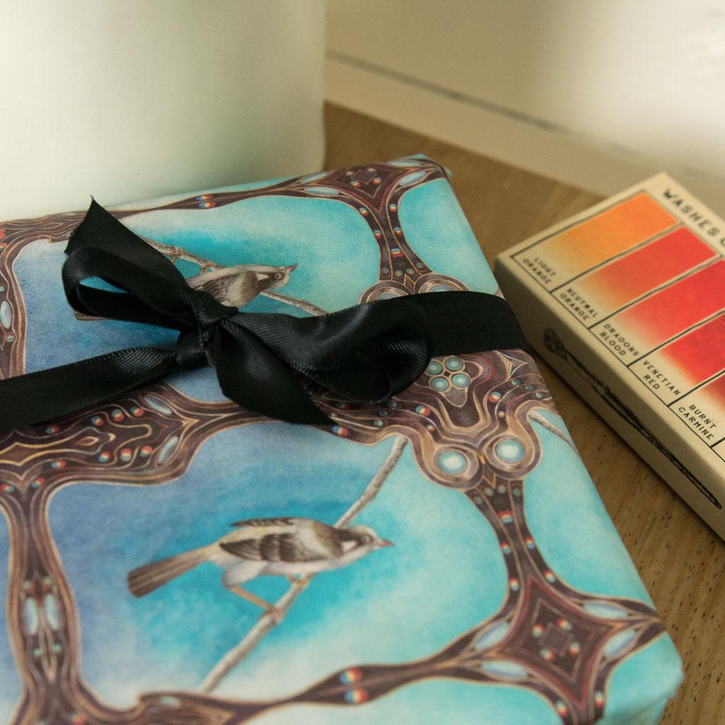 Bird Song Gift Wrap