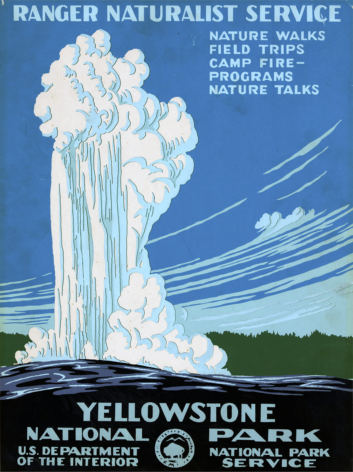 """Yellowstone National Park"" by Don C. Chester, 1938"