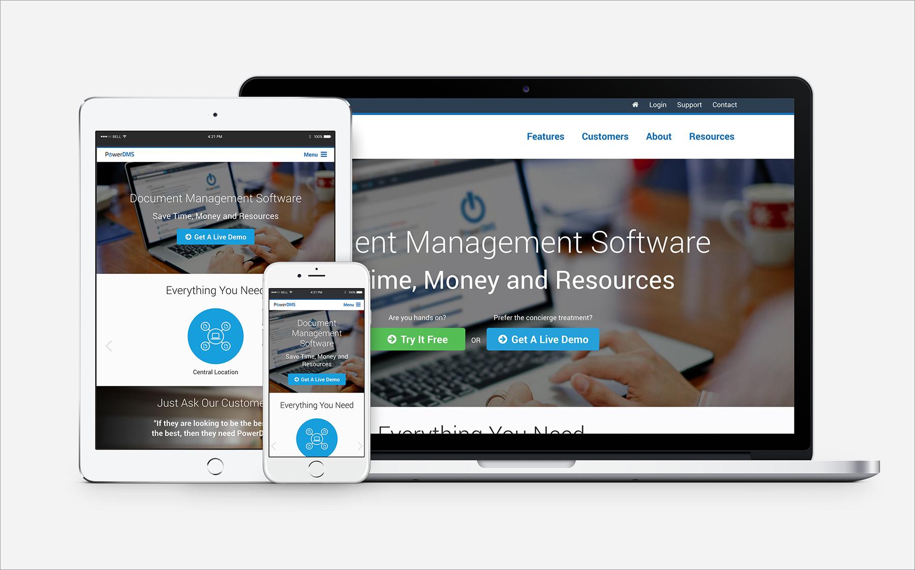 PowerDMS Website