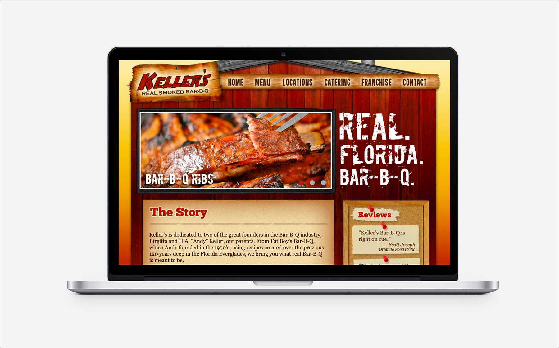 Keller's BBQ Website