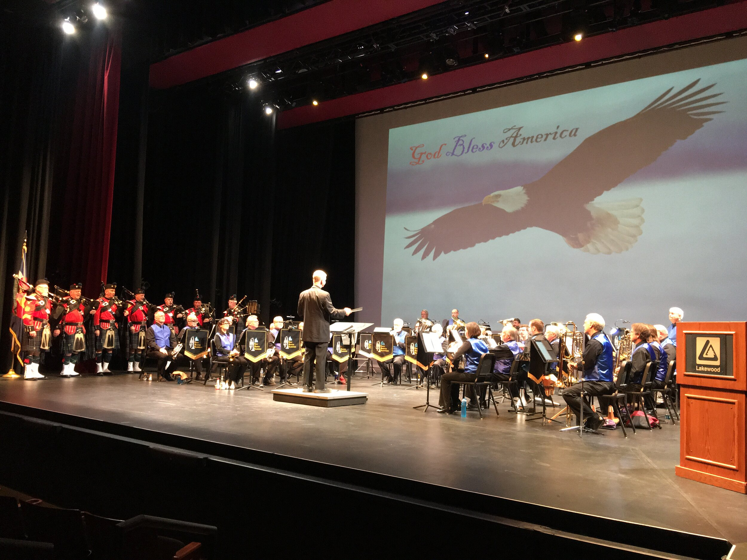Veteran's day concert 2019 with El Jebel Shrine Pipe Band