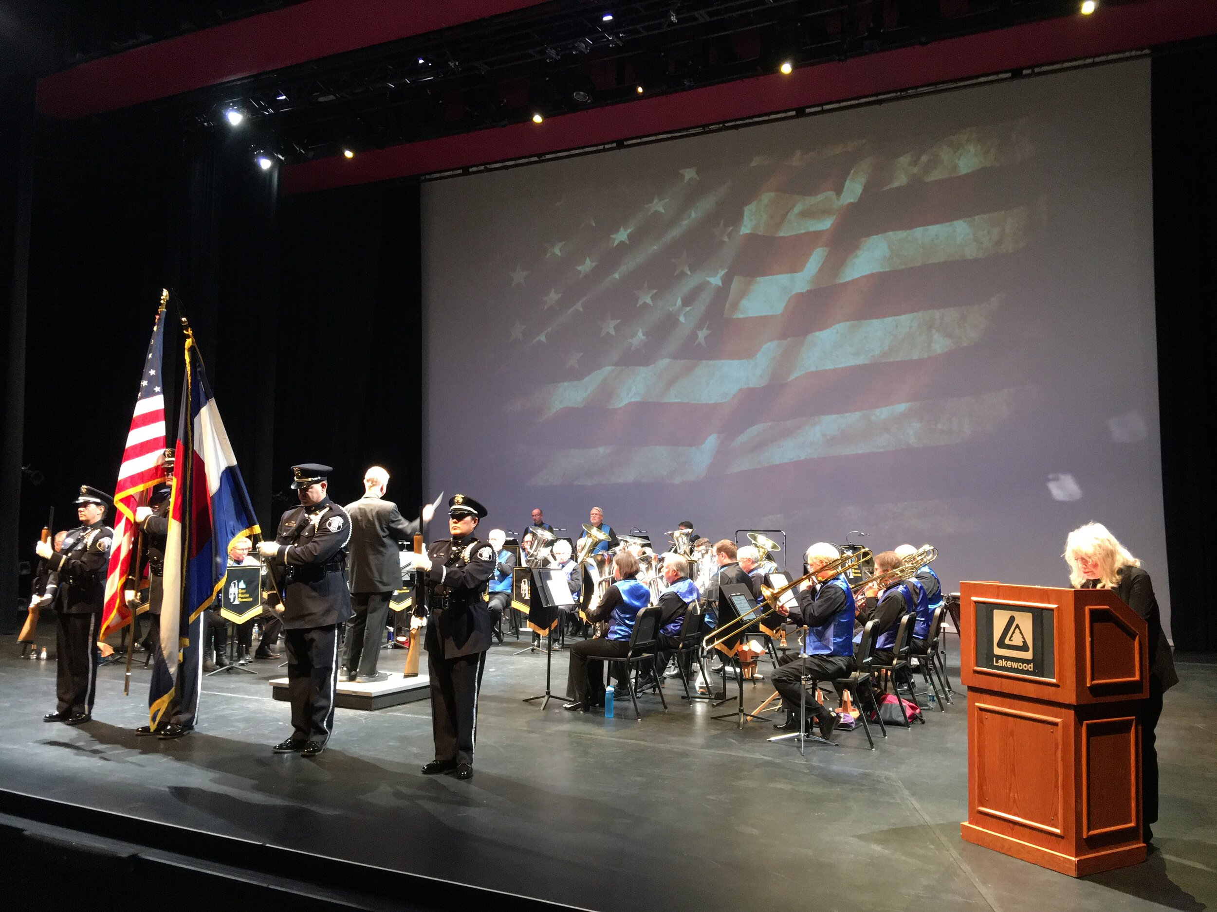Presenting Colors for Veteran's day concert 2019