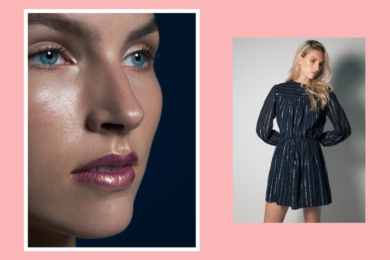 Natasha Schweitzer Odette earrings, Isabel Marant Salome dress