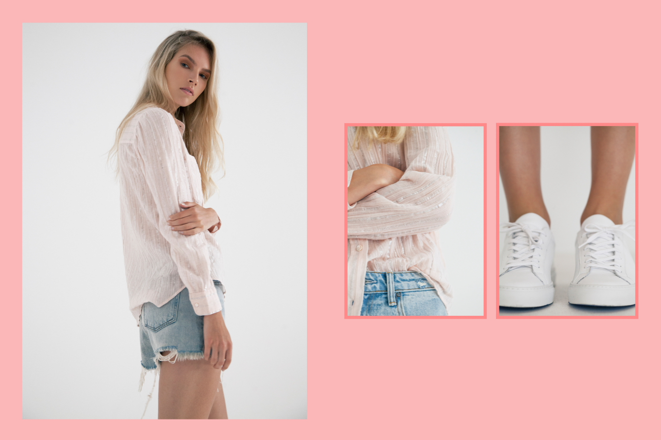 Isabel Marant Etoile Samson shirt,  Alexander Wang Bite shorts,  Woman by Common Projects white Achilles low sneakers