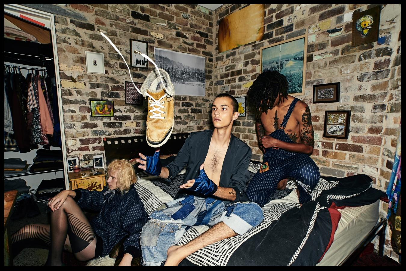 Kane - COS jacket Abbey Walker Designs PantsCOS gloves, Gemma - Emma Mulholland bomber, Yannik - Emma Mulholland overalls
