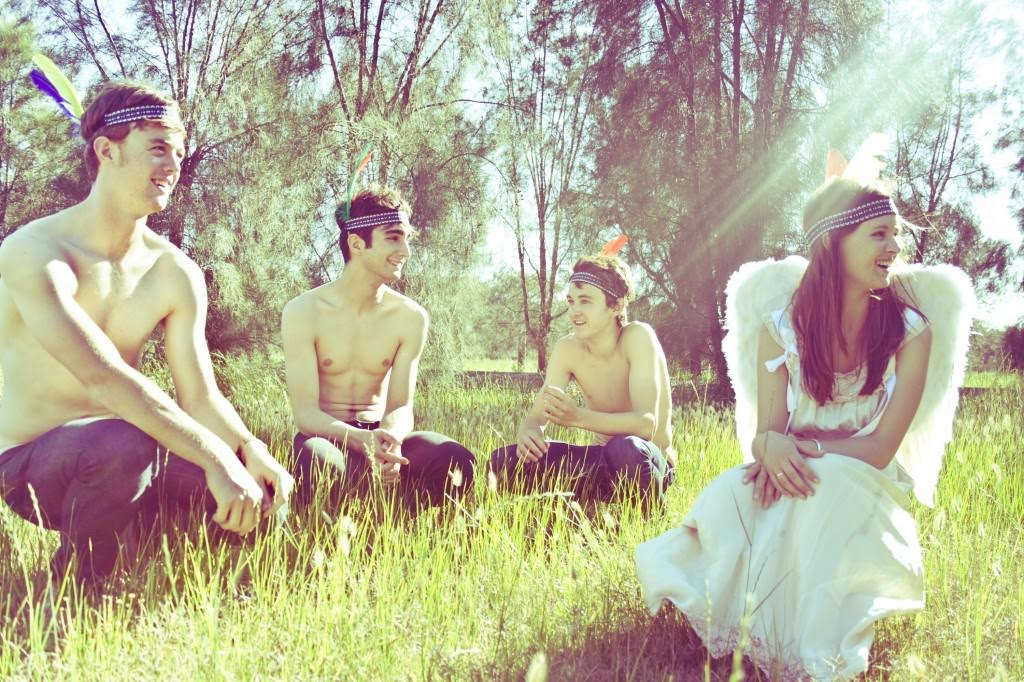San Cisco in the Sun (From left to right: Nick Gardner (bass guitar), Josh Biondillo (Guitar), Jordi Davieson (Guitar/Vocals), Scarlett Stevens (drums/percussion)