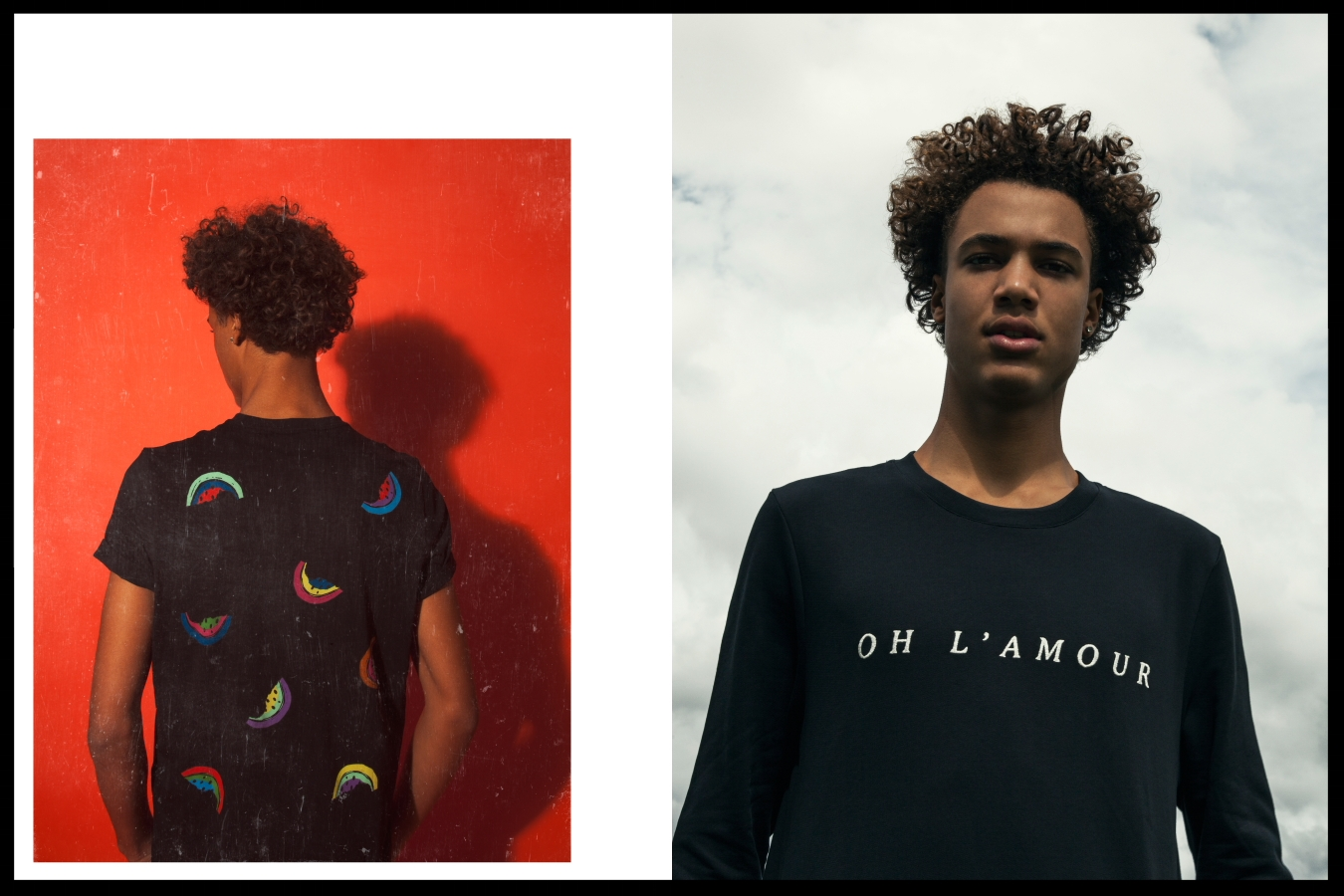 Left: Paul Smith t shirt - Right: APC jumper