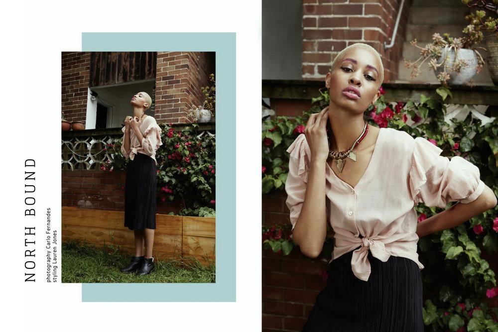 Matin ruffle blouse, Pull and Bear dress, Fendi boots