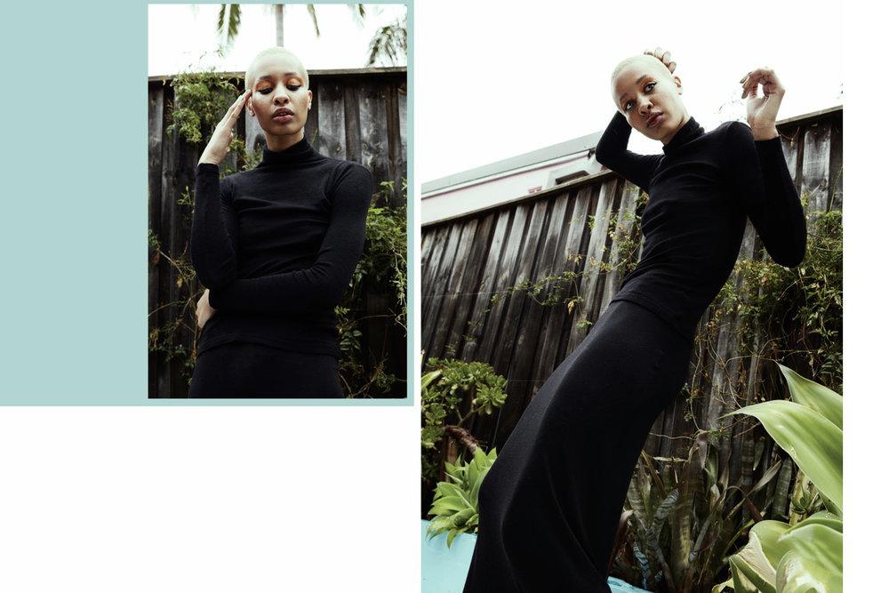 turtleneck jumper, Vintage skirt