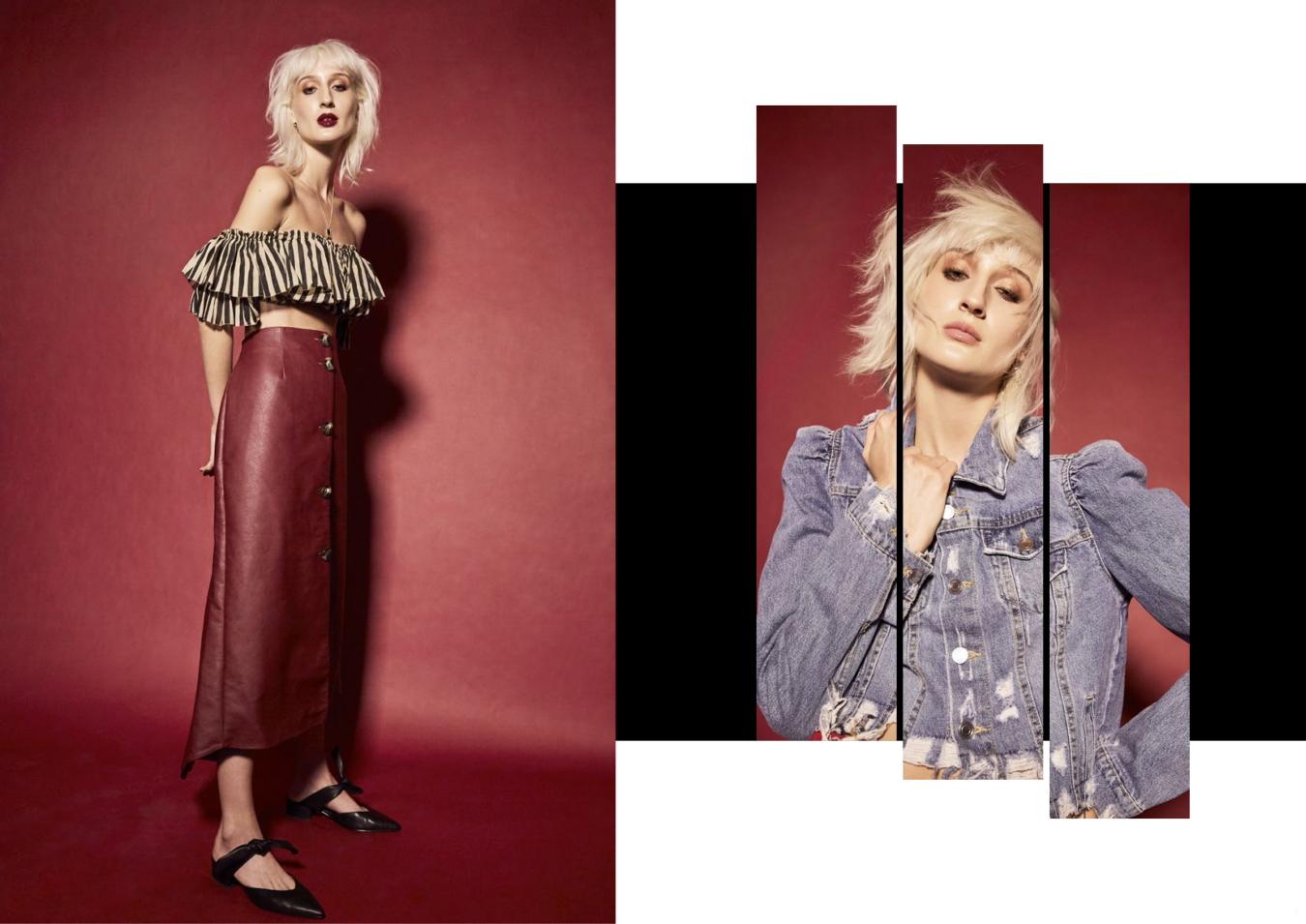 Jacket Zara Earrings Reliquia, Top Zimmermann, Skirt ASOS, Shoes Sol Sana