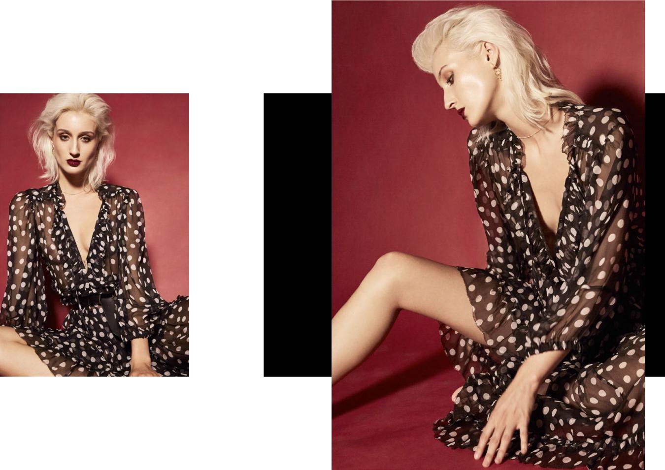 Dress Lee Mathews, Belt stylists own, Jewellery Reliquia