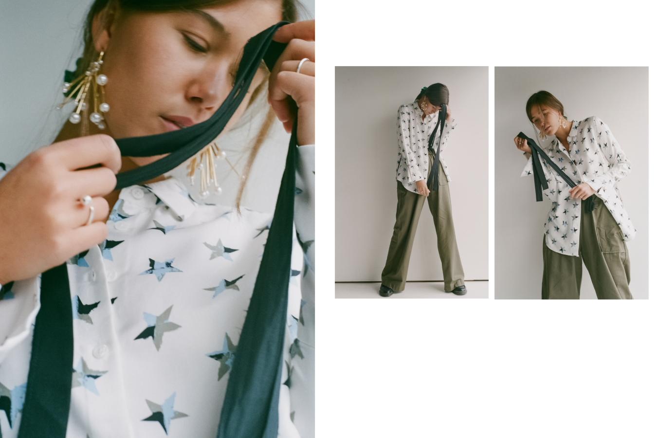 Earrings Reliquia, Shirt Equipment, Pants Matin