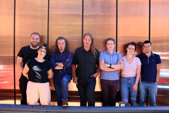 Yann Mathias is 3rd from left.