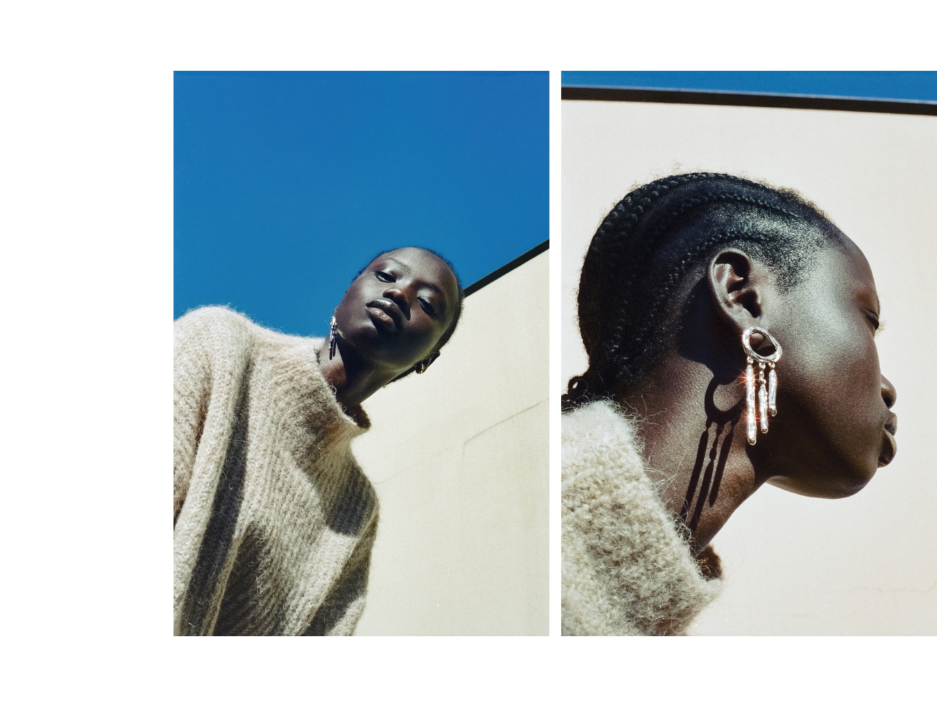 Nique jumper, Stylist's own earrings