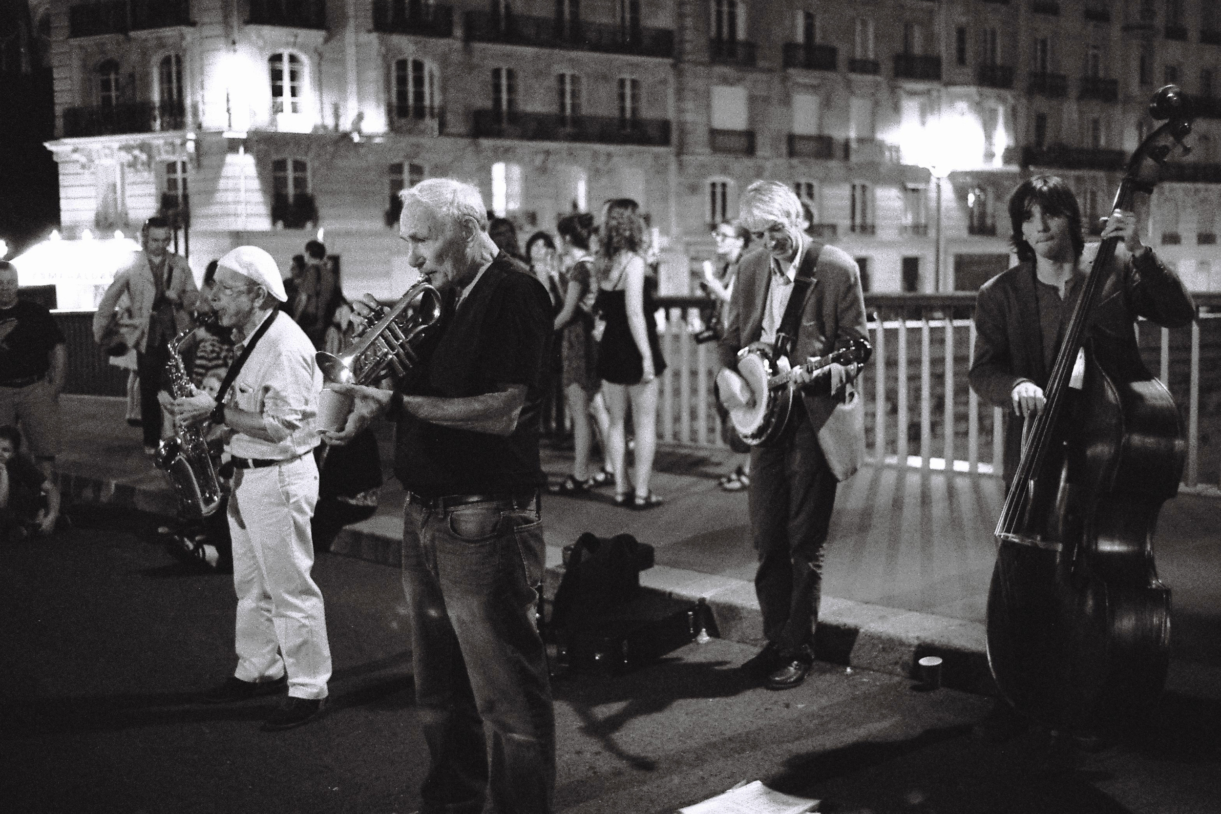 Musicians performing on the bridge (2012)