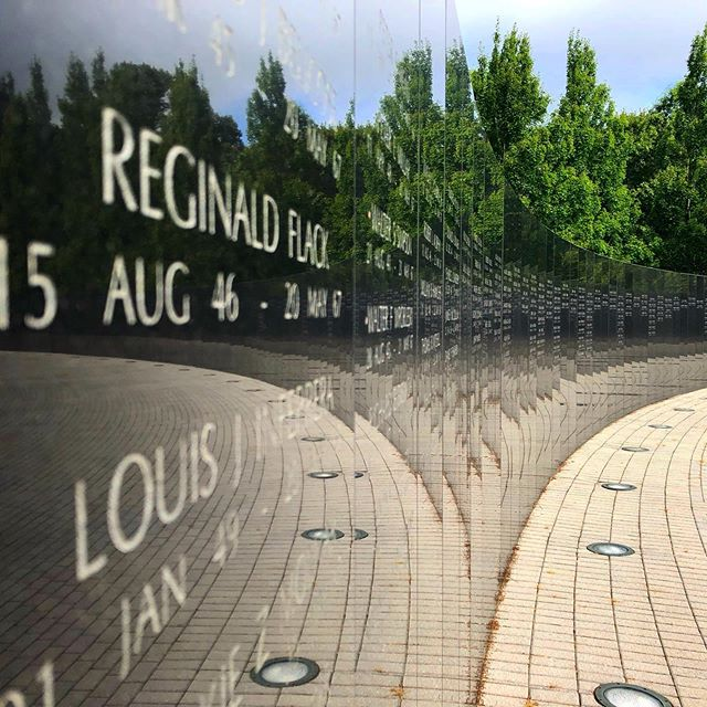 The Wall at the New Jersey Vietnam Veterans' Memorial  #Holmdel #NewJersey #Vietnam #Veterans #Memorial #War #Peace
