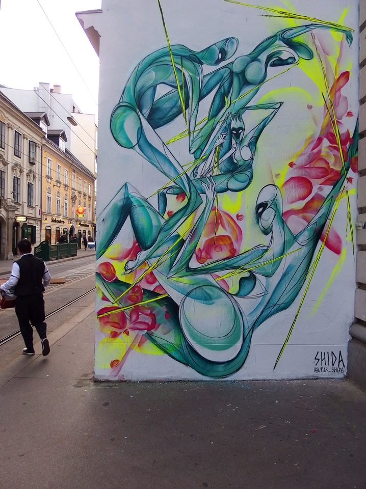 SHIDA  rotating wall Siebensterngasse, Vienna