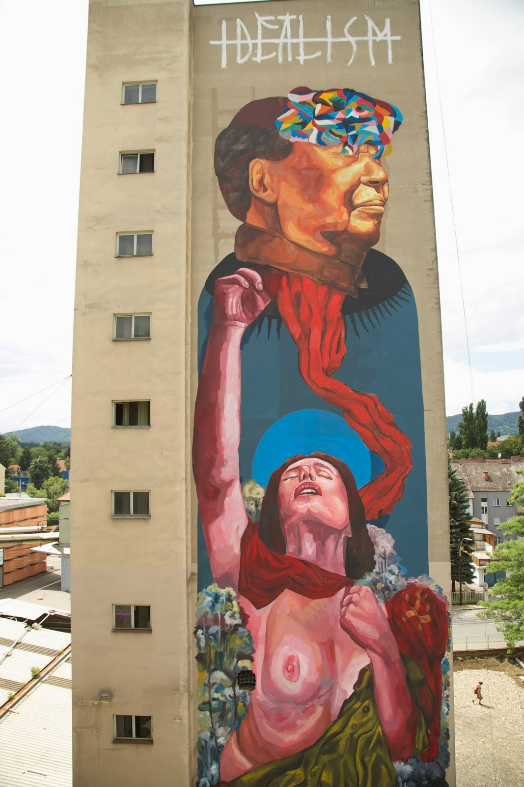 """EVER """"Personal interpretation of the death of idealism""""  curated by INOPERAbLE, Graz  for  Livin' Streets Festival"""