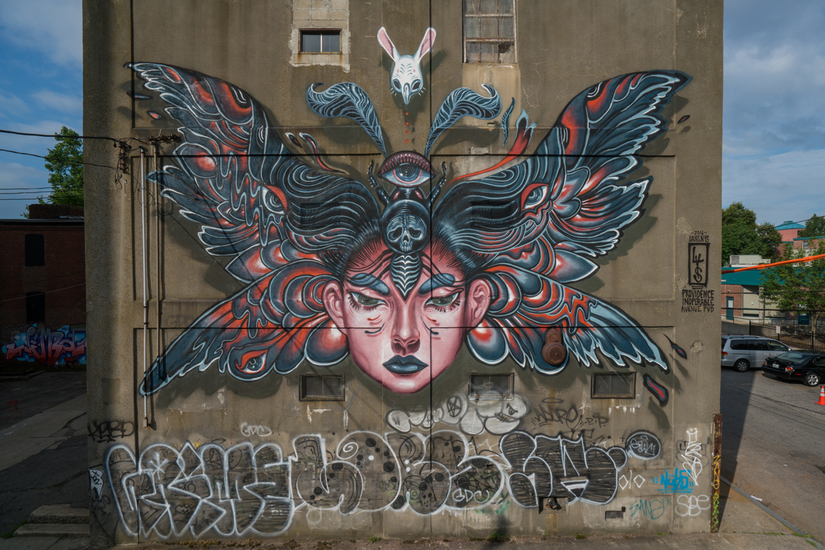 """Lauren YS """"Night Flight""""  curated by INOPERAbLE for   Avenue Concept  , Providence RI, USA    Photo by Ben Jacobsen"""