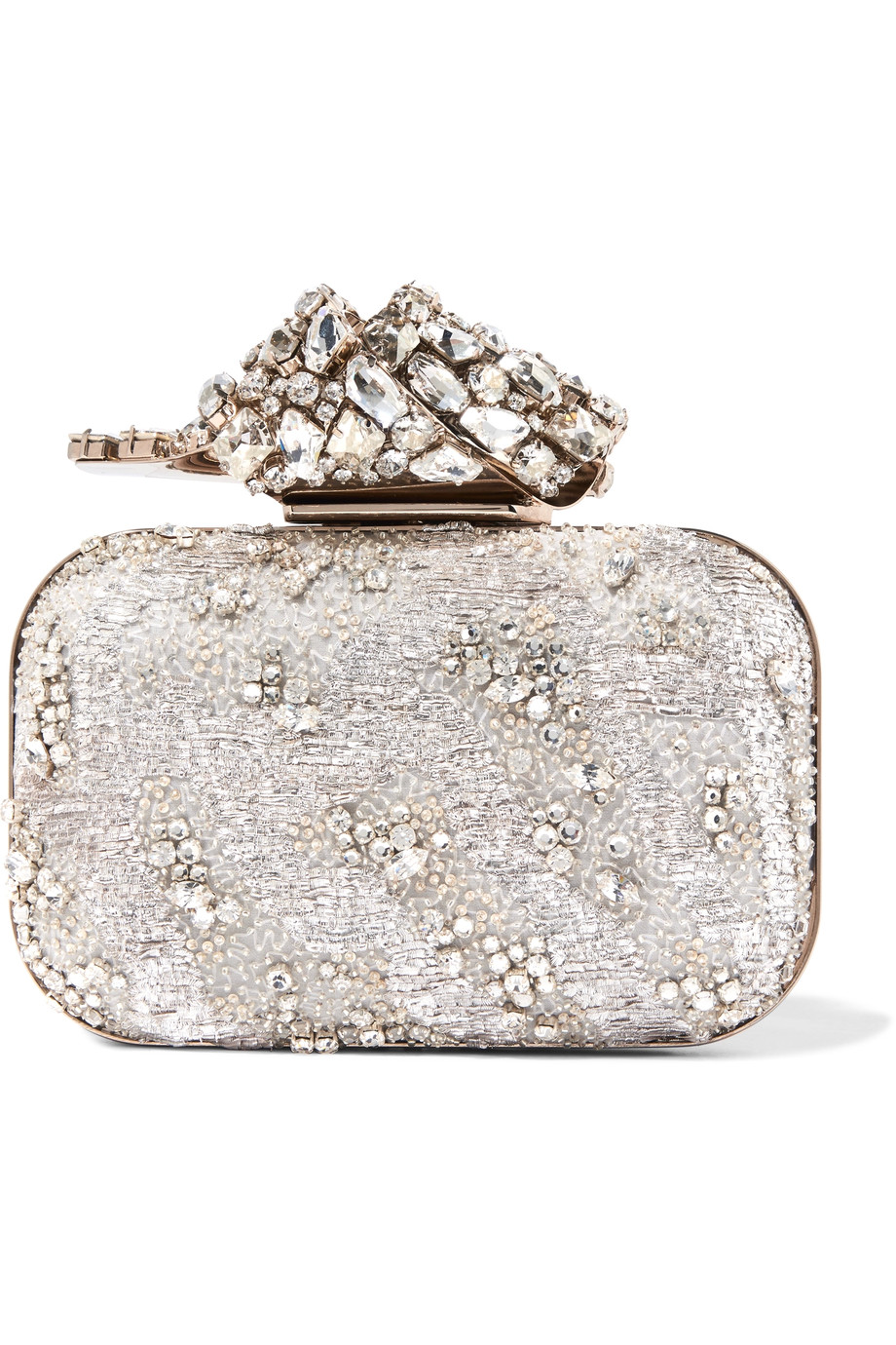 Jimmy Choo: Cloud embellished organza clutch