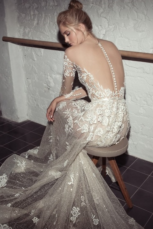 Exceptional details of the Lee Petra Grebenau 'Karlie' Gown