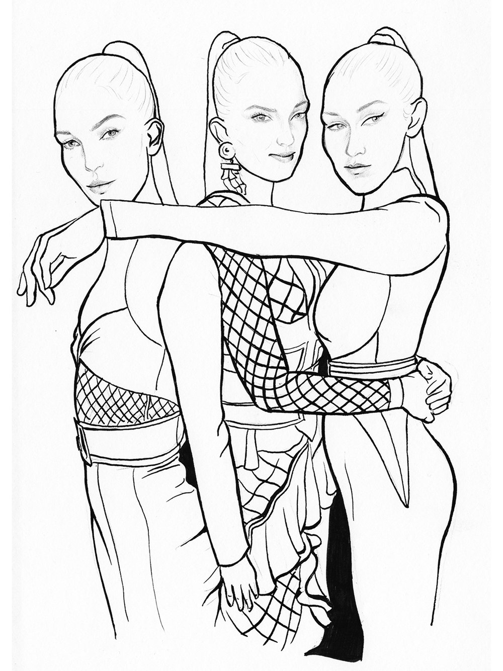 Backstage Balmain with Lily, Lily & Bella