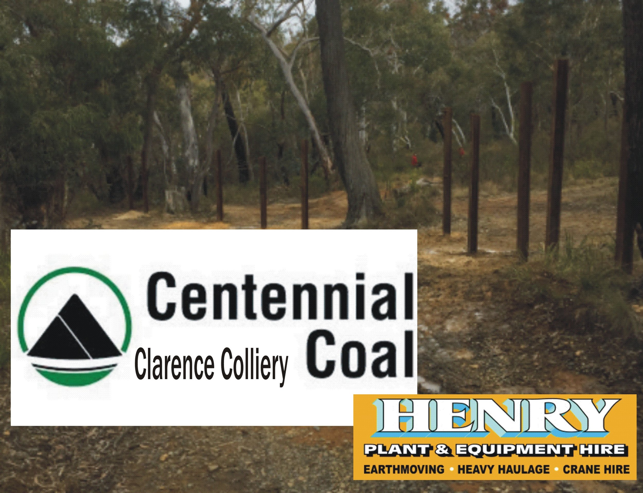 - Both of these projects was also assisted by Centennial Coal's Clarence Colliery who contributed time and materials used as bollards. Clarence Colliery also have assisted with contributions to road maintenance along with Henry Plant Hire.
