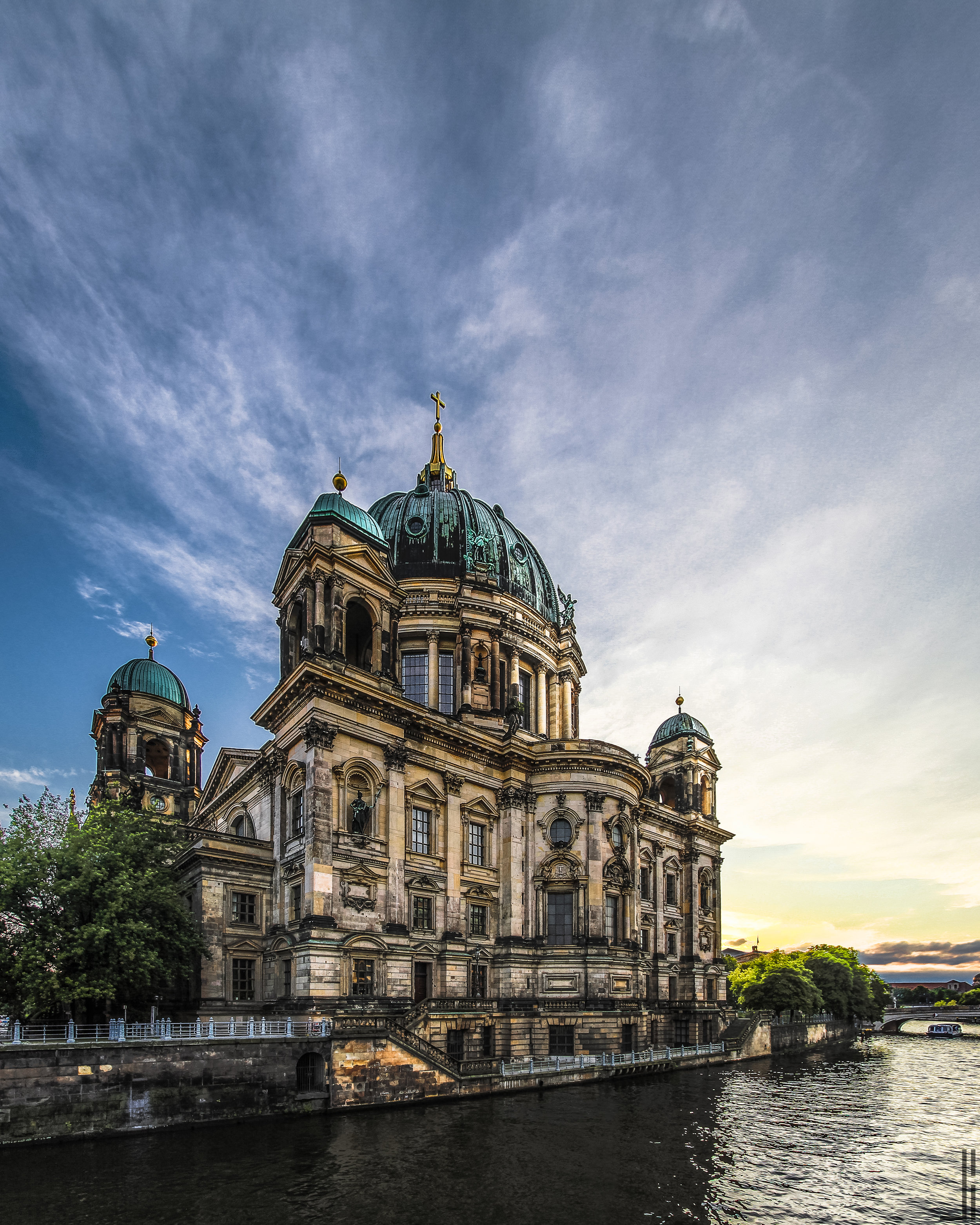 Berliner Dom at Sunset Berlijn - jbax