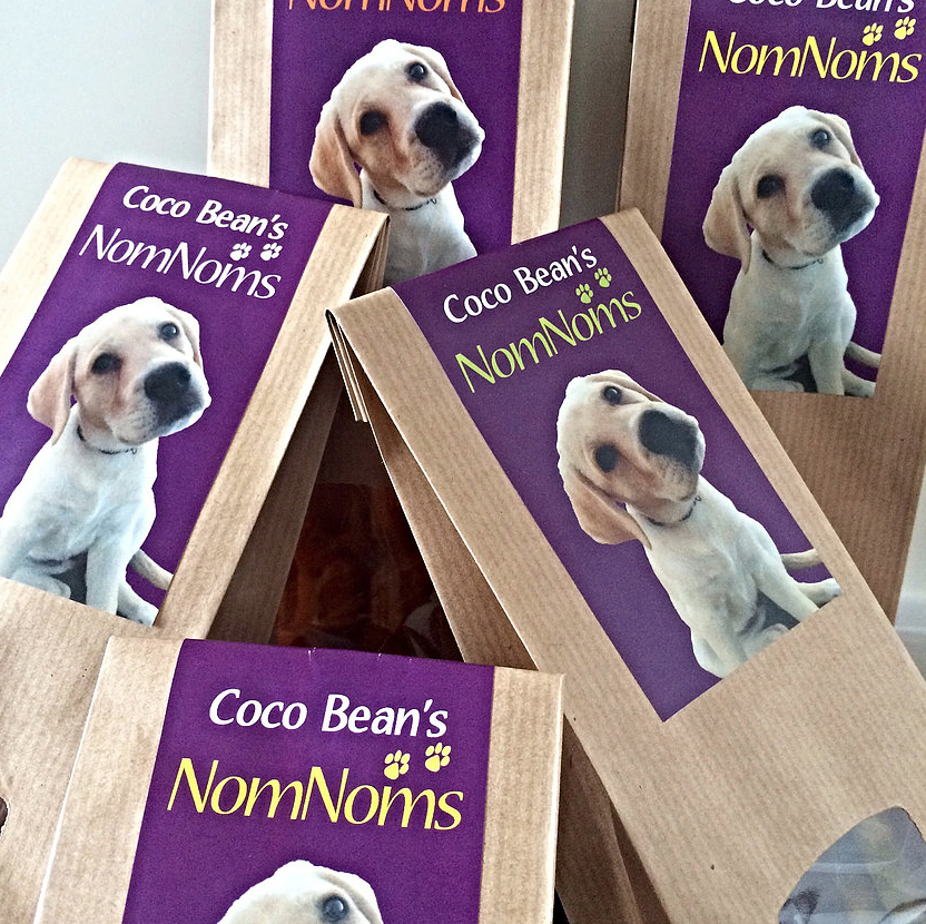 COCO BEAN   When Karen met CocoBean the little lab, she fell in love and was inspired to create a range of vegetarian doggie treats.