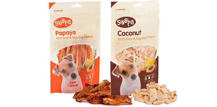 SOOPA   Made with 100% juicy and delicious papaya, sweet potato and coconut. Bursting with goodness, low calorie, hypoallergenic and with a natural taste dog's love!ole Gonzalez