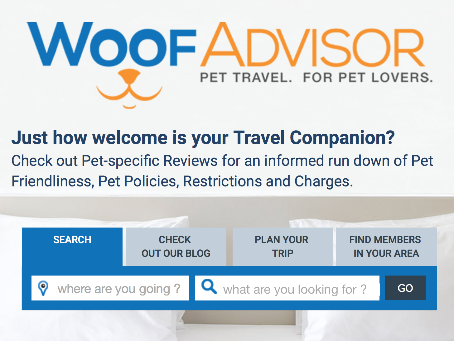 WOOFADVISOR   The team will be on hand to tell you all about their super-helpful 'pet travel, for pet lovers' website. Don't leave home without it...