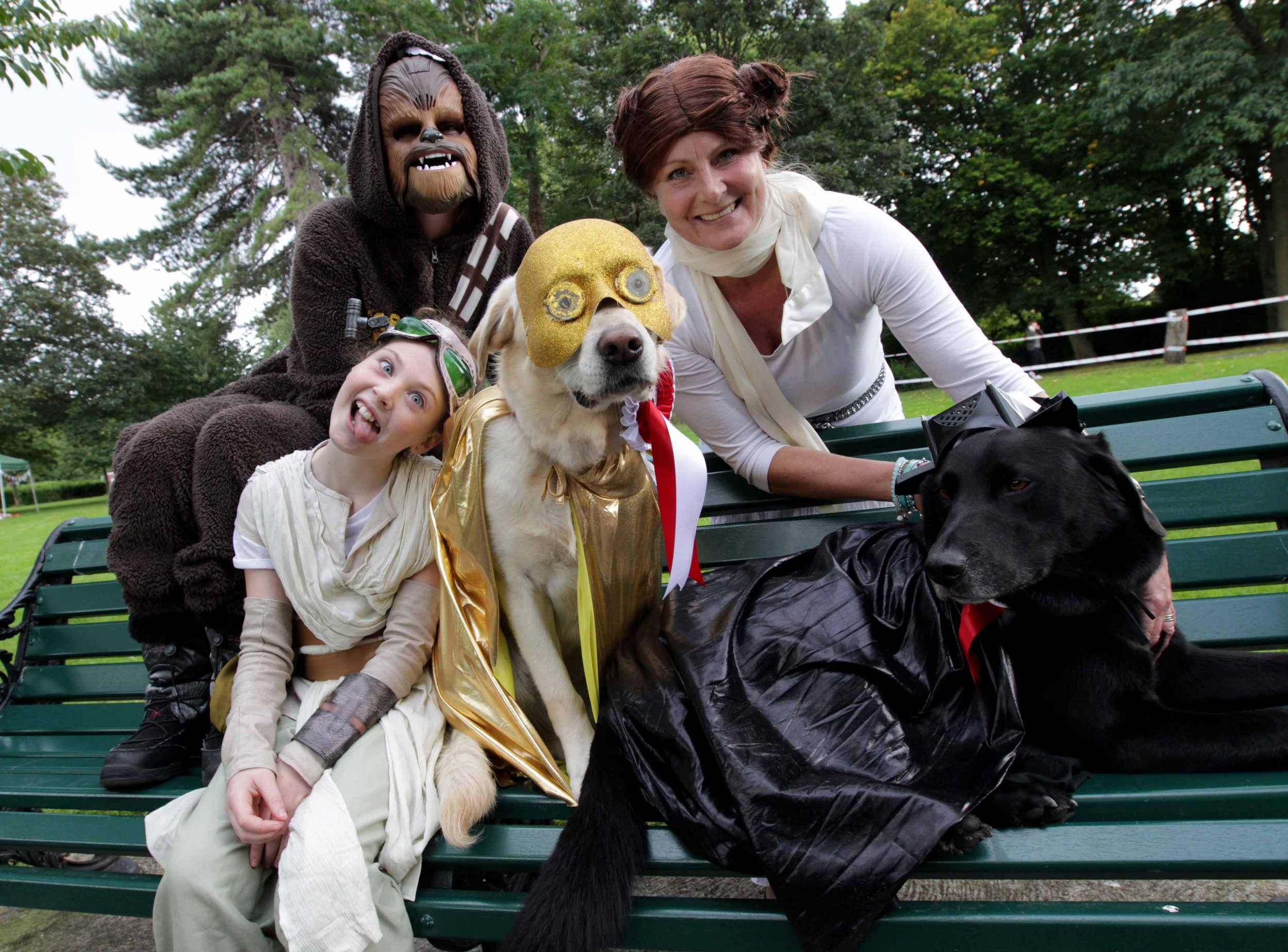 1st RUNNER UP: Holly 'CP3O' and her Star Wars gang!