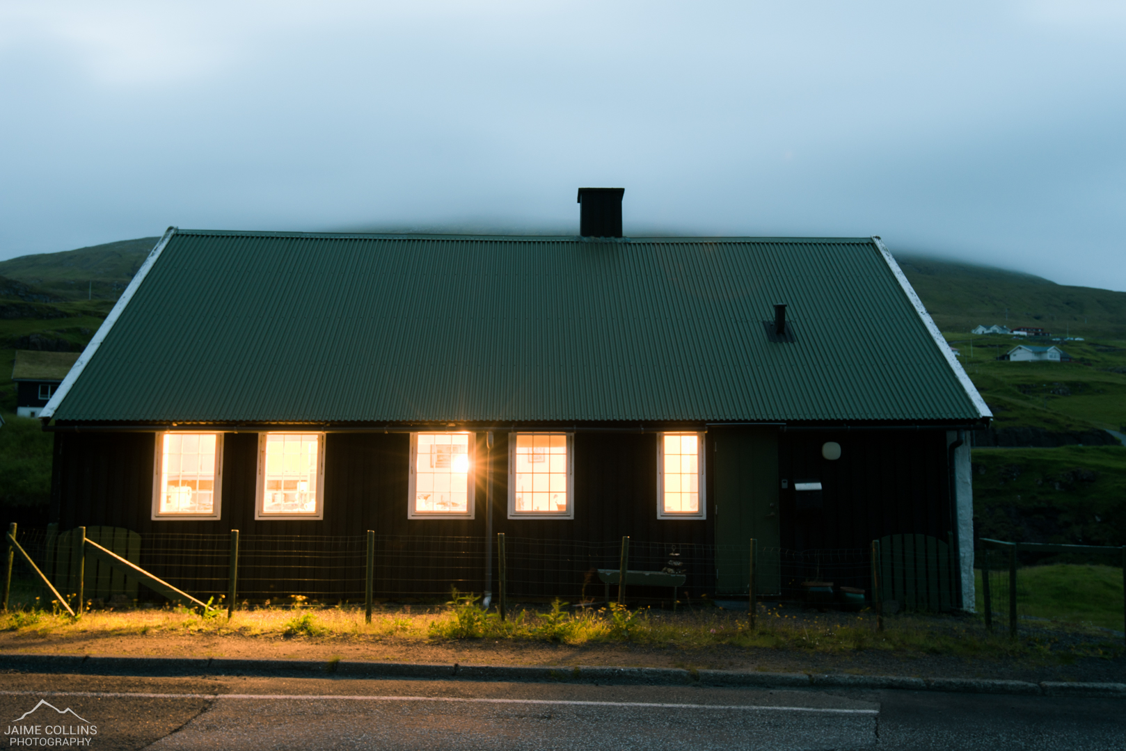 Our accommodation for the trip — a beautiful Faroese house. Shame it didn't have a grass roof!