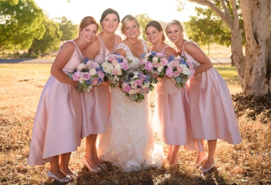 bridesmaids makeup pink perth jellis beauty