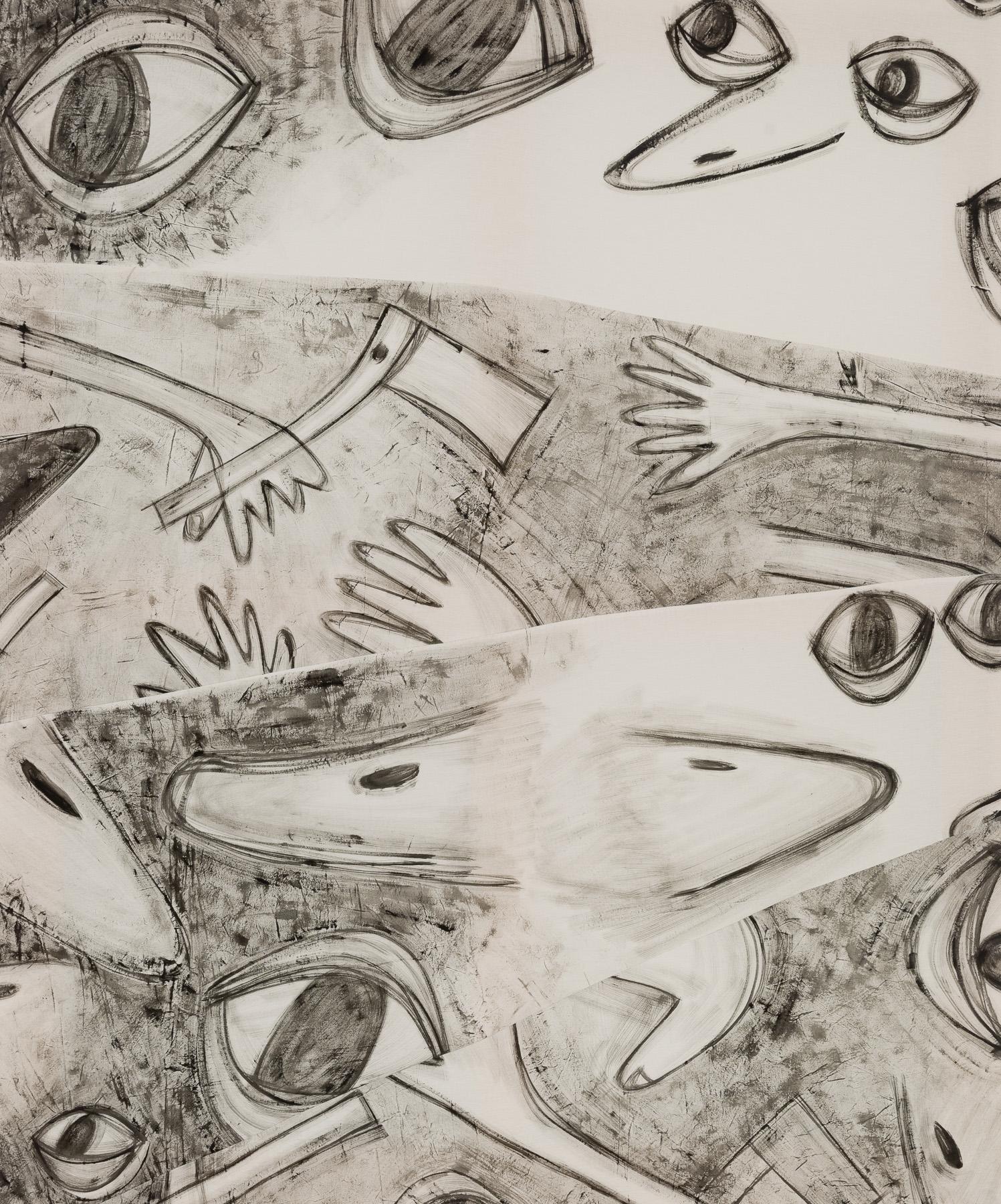 Chance objects  ,2017, acrylic on muslin, 72x60 in